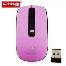 Wireless Hello Kitty Mouse 2.4ghz Optical Computer Mause Adjustable 1600DPI Mini  Mice Sem fio Gamer Mouse Kids Girls Gift