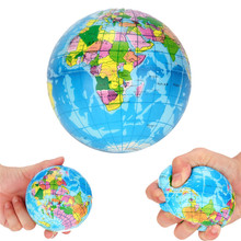 Stress Relief World Map Foam Ball Atlas Globe Palm Ball Planet Earth Ball Baby Children Toy Educational Toy Free ship #5(China)