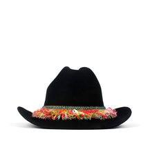 Fashion 100% Wool Women Western Cowboy Hat Lady Black Tassel Fascinator  Fedora Outback Sombrero Hombre a90fc3efdf68