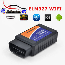 2017 Factory Price WIFI ELM327 OBD2 Scanner Wireless Auto Scanner Adapter ELM 327 WIFI OBDII Dignostic Scanner Tool