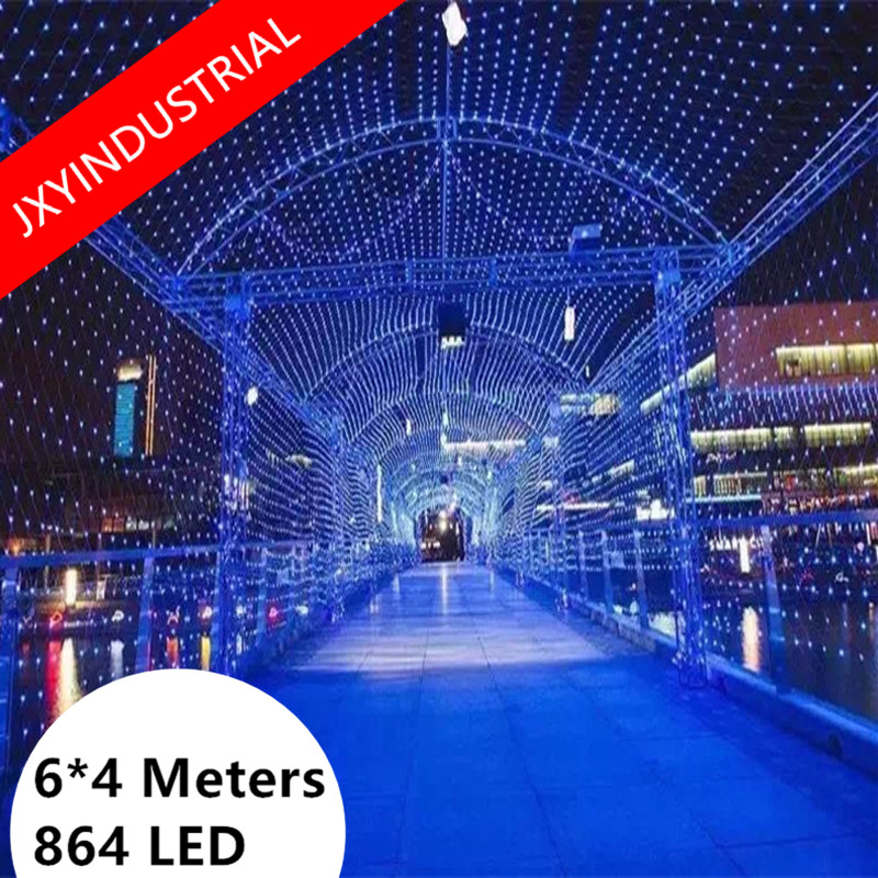 4M x 6M 860 LED good Design Net Mesh Fairy String Light for Indoor Outdoor Home Garden Christmas Party Wedding(China)