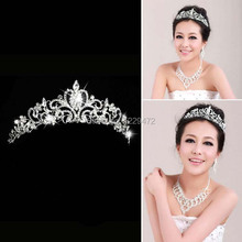 Elegant Luxurious Wedding Bride Crown Headwear Rhinestone Tiaras Head Pin Wedding Party Bride Jewelry