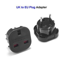 EU German Plug Adapter UK British To European Euro Europe AC Travel Power Adapter Converter Plug Electrical Socket Outlet(China)