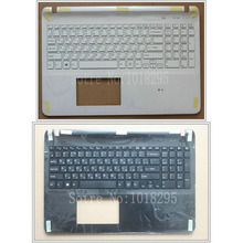 Laptop Russian keyboard for sony Vaio SVF15 SVF152 FIT15 SVF151 SVF153 SVF1541 SVF15E black/white RU with Palmrest Cover(China)