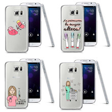 Cute Cartoon Medicine Nurse Doctor Dentist Case For Samsung A3 5 7 8 J1 J5 J7 2015 S3 mini S4 S5 S6 Edge Plus S7 Edge Note 3 4 5