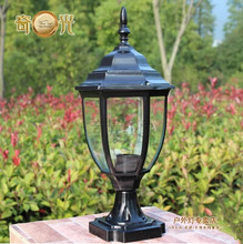 Pillar caplights lamp post lawn lamp fashion outdoor waterproof lighting fitting 110V/220V E27 LED Lamp