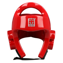 MOOTO Taekwondo Helmet Adult Children headgear face Protector Safety Helmet Kickboxing head guard WTF approve Karate Helmets Red(China)