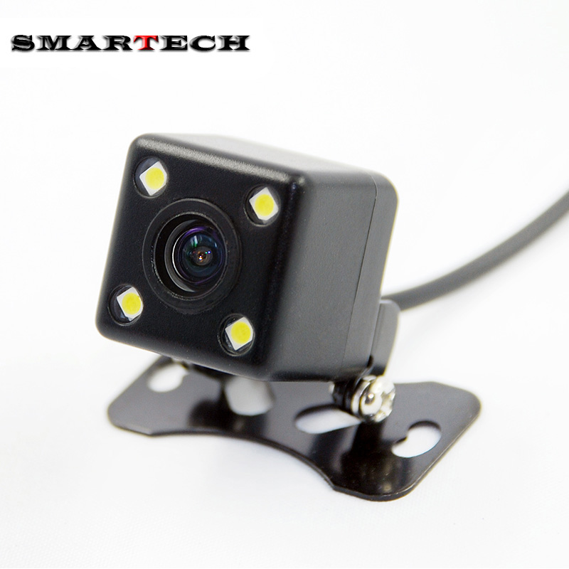 SMARTECH Waterproof Full HD Car Rear Camera 4 LED Night Vision Car Rear View Camera Parking Assistance Universal Camera(China (Mainland))