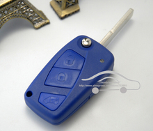 3 Buttons Flip Remote Key Shell for Fiat Punto Ducato Stilo Panda Idea Doblo Bravo Keyless Fob Case Blanks(China)