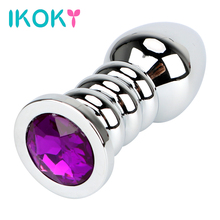 Buy IKOKY Big Butt Plug Sex Toys Women Men Adult Product Anal Beads Diamond Metal Anal Plugs Masturbation