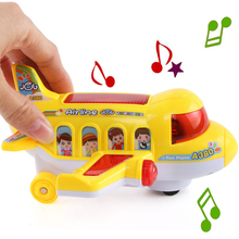 New Arrival airplane kids favorite Led flashing music simulation aircraft model toys children birthday gifts without battery(China)