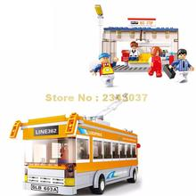 Sluban M38-b0332 Single Deck Yellow Bus Building Blocks