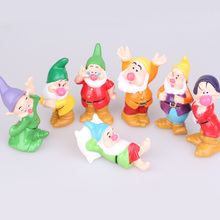 7pcs/se 3inch   Princess Snow white and seven dwarfs pvc figure toys gift for kids  Cake Topper