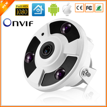 Panoramic Camera IP 720P 960P 1080P Optional IP Camera Wide Angle FishEye 5MP 1.7MM Lens Camera CCTV Indoor ONVIF 3 ARRAY IR LED