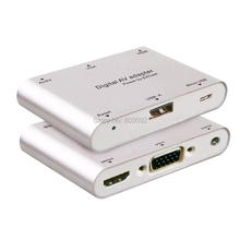 Digital AV Adaptor for iOS/Android/Macbook to HDMI VGA Monitor VGA/AV Converter(China)