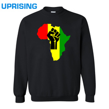 2016 new fashion AFRICA Power Rasta Reggae Music Logo men's Hoodies man Cotton Camisetas Print casual Sweatshirts(China)