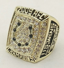 Bottom price for A.F.C 2009 Indianapolis Colts Replica High Quality world Men Championship Ring(China)