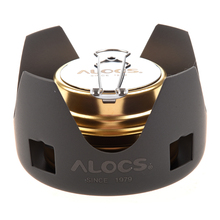 ALOCS Portable Mini Ultra-light Spirit Alcohol Stove Outdoor Backpacking Hiking Camping Furnace with Stand