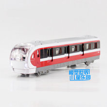 Free Shipping/Diecast Toy Model/Pull Back/City Subway Bus/Sound & Light Cute Car/Educational Collection/Gift For Children/Small(China)