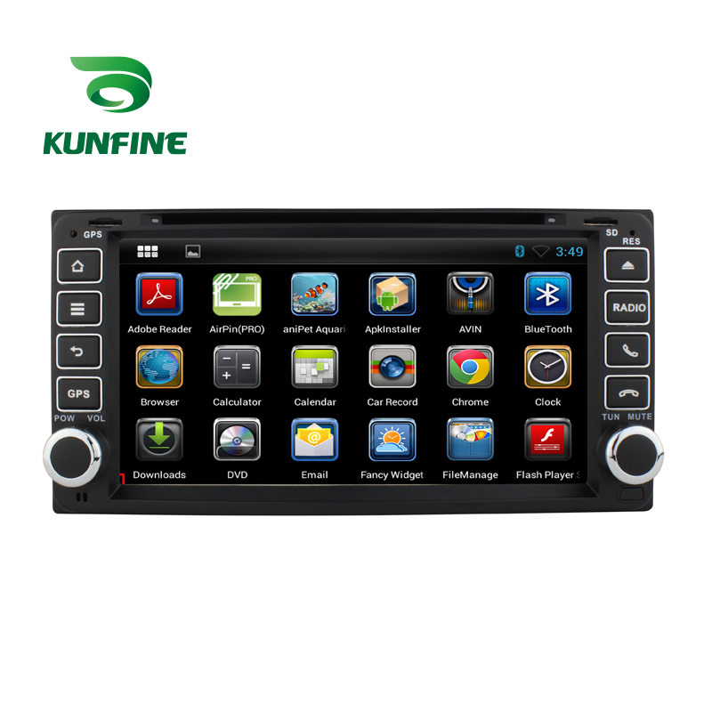 KUNFINE Android 7.1 Quad Core 2GB Car DVD GPS Navigation Player Car Stereo for TOYOTA RAV4 2001-2008 Radio headunit Bluetooth