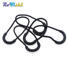 Zipper Pulls Cord Rope Ends Lock Zip Clip Buckle Black For Paracord Accessories/ Backpack/Clothing