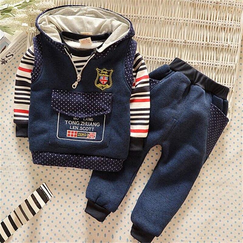 Autumn/Winter Baby Boy Clothing Sets children Warm clothes set Kids Boys shirt+vest+pants Sport Suit<br><br>Aliexpress