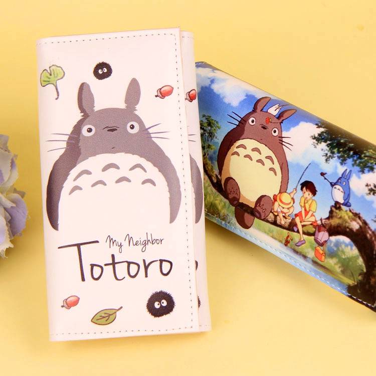 Cartoon My Neighbor Totoro Women Wallets PU Leather Students Wallet Cards Holder Women's Clutch Hasp Coin Purse Money Bags 3