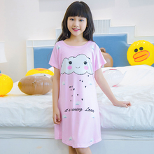 Buy Big Girl Nightdress New 2018 summer Fashion Princess Cartoon Long Kids SleepDress Cotton Children Nightgowns Girl Gift for $4.74 in AliExpress store