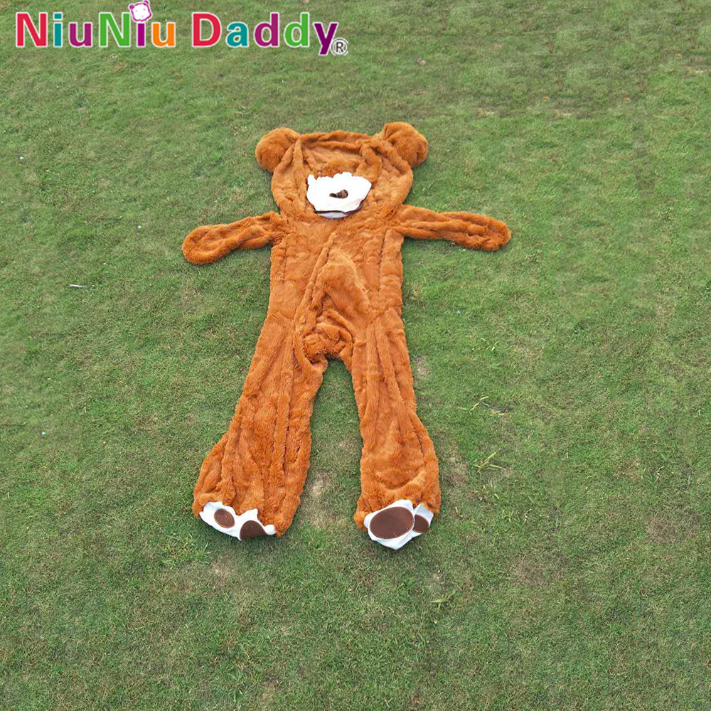 Niuniu Daddy 200cm USA Teddy Bear Skin Semi-finished  America Bearskin Dark Brown Plush Unstuffed Bearskin Giant Bear<br>