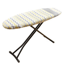 1 Piece European style ironing board cover/pad blue/yellow stripe, anti-heat, free shipping, 51X130CM ,COTTON.COVER ONLY