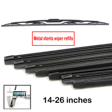 "Insert Rubber strip Windshield Wiper Blade Refill Universal Replacement Refill Soft 6mm 14"" 16"" 22"" 24"" 26"""