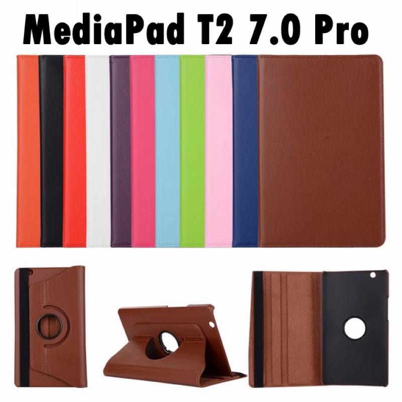 For Huawei MediaPad T2 7.0 Pro / M2 7.0 Lite PLE-703L 7.0inch Tablet Flip Pu Leather 360 Degree Rotating Case Stand Cover<br><br>Aliexpress