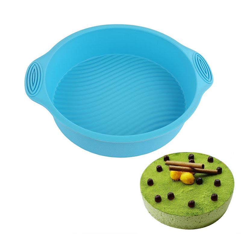 FHEAL Round Shape 3D Silicone Cake Mold Baking Tools Bakeware Maker Mold Tray Baking DIY Cake Tool-13