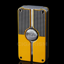 COHIBA Yellow Classic 3 Torch Jet Flame Cigar Lighter W/ Punch New Design(China)
