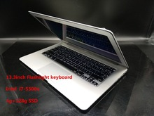 Aluminum Metal Case 13.3 Inch Laptop Flashlight keyboard I7 1.4Ghz  4GB/128GB SSD 7000mAh notebook gaming netbook  PC computer