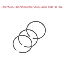 FREE SHIPPING 1set 42mm/47mm/48mm/51mm/65mm/80mm/90mm/100mm Dia Piston Rings Set for Air Compressor(China)