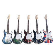 Yuker 39 Inch High Quality Cool Electric Guitar Sticker American Flag Panting Guitars Guitarra Instrument 5 Colors(China)