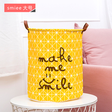waterproof Non-woven fabric folding storage box organizer Kids toys Dirty Clothes laundry storage Basket Dirty storage barrel