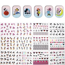 12pcs/Set Small Water Foils Nail Art Sticker Nails Cartoon Harajuku Sailor moon Mouse Decals Minx Nail Decorations