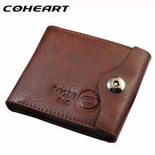 COHEART Men Hasp Wallet Leather Purse Trifold Wallets For Man High Quality Big Capacity Credit Crad Holders Money Bag Cheap