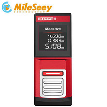 Promotion Mileseey D530 60M laser Rangefinder Laser Distance Meter mini Red Constinous measure mode(China)