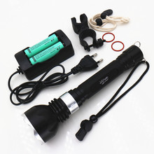 led lighting 6800LM Underwater XM- L2 LED Diving Flashlight Torch lantern waterproof Light lamp +battery+charger+bag+Bike clip