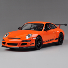 Diecast Welly Model Car 911 GT3 RS Orange 1:24 Alloy Model Car Toys Vehicle Car Model Alloy Model Kids Gift Toy Cars
