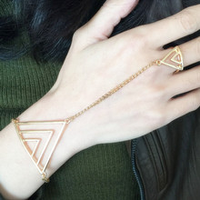 New Fashion Women/Girl's jewelry gifts Geometric hand chain link contact bracelet free shipping B3205