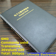 36 kinds x25 commonly used SMD Transistor Assortment Kit Assorted Sample Book(China)
