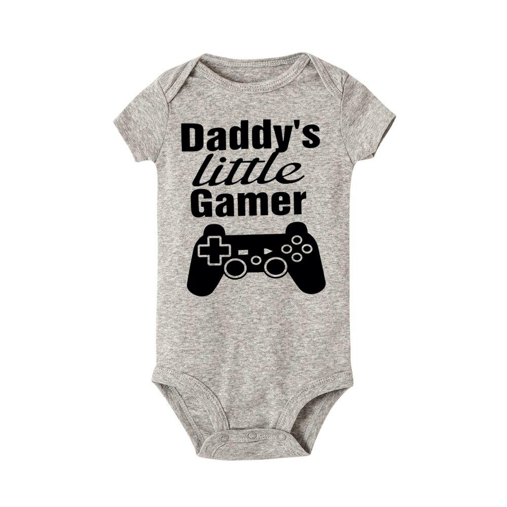 Toddler Baby Boys Bodysuit Short-Sleeve Onesie My Dad is My Hero Dog Print Outfit Spring Pajamas