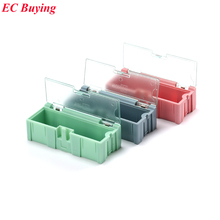 1pcs New Arrival SMD SMT IC Electronic Component Mini Storage Box and Practical Jewelry Storaged Case 75*31.5*21mm 3 colors