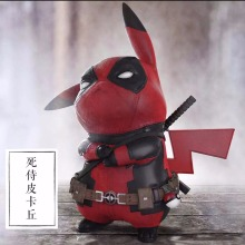 TL action figure Funny Pikachu Cosplay X-men Marvel Deadpool PVC model toys for Animation collection and kid game gift 15cm(China)