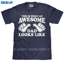 Gildan Create Your Own T Shirt Design This Is What An Awesome Dad Looks Like Men'S Graphic O-Neck Short-Sleeve Tees