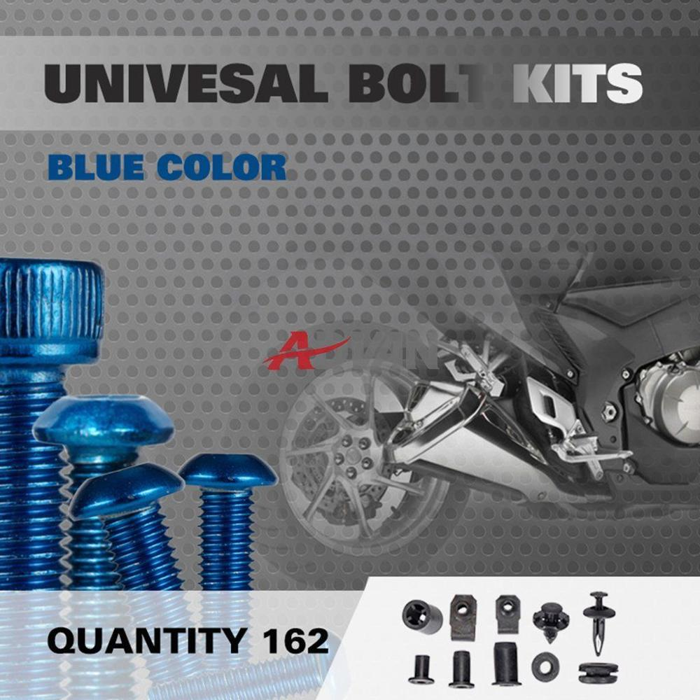 Blue 162Pcs Fairings Bolt Kit Fastener Nuts Screws for Sportbike for SV TL 600 1000 Katana for KTM RC125 RC200 RC390 for APRILIA<br><br>Aliexpress